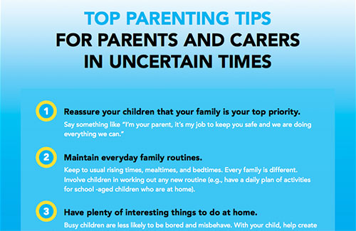 Top Parenting Tips in Uncertain Times