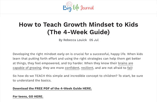 How to Teach Growth Mindset to Kids