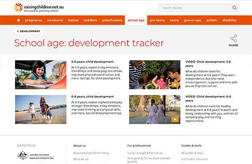School Age: Development Tracker