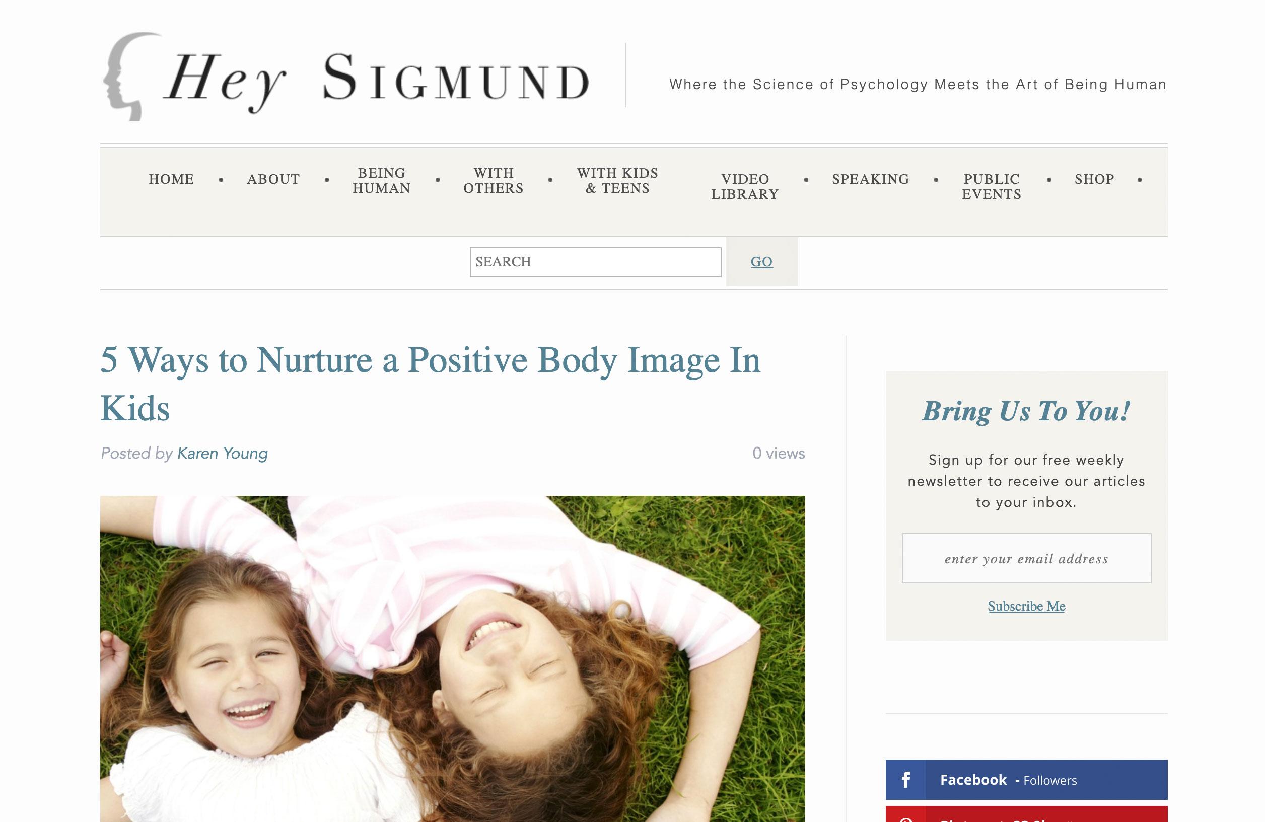 5 Ways to Nurture a Positive Body Image In Kids
