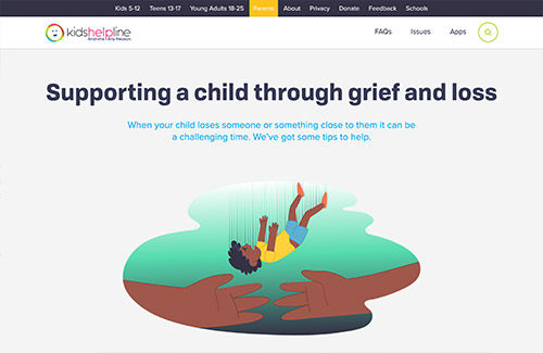 Supporting a child through grief and loss