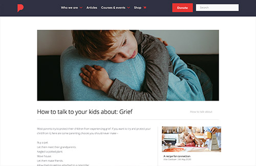 How to talk to your kids about: Grief