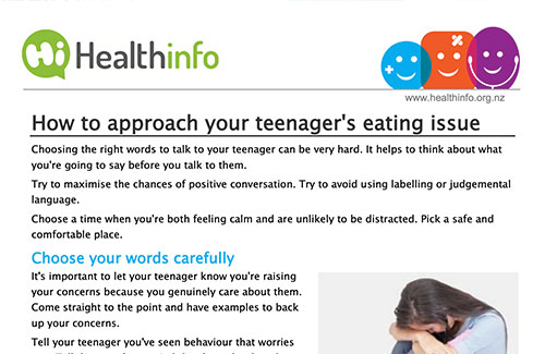 How to approach your teenager's eating issue