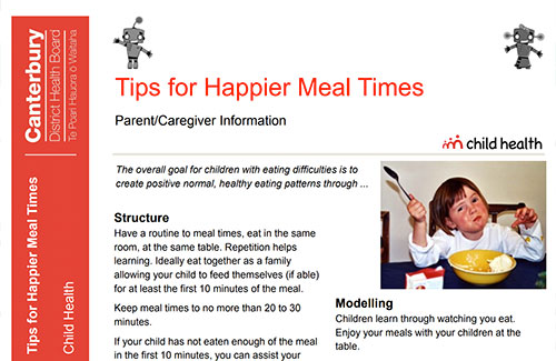 Tips for Happier Meal Times