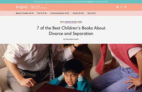 Best children's books about divorce or separation