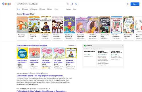 Books for children about divorce