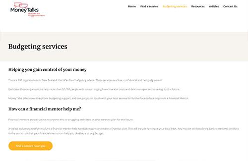 Money Talks- Budgeting Services