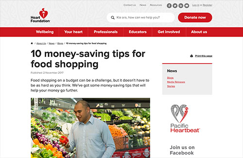 Tips for food shopping