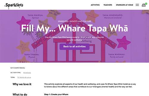 Fill my Whare Tapa Whā