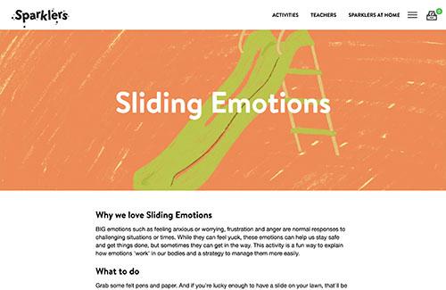Sliding emotions